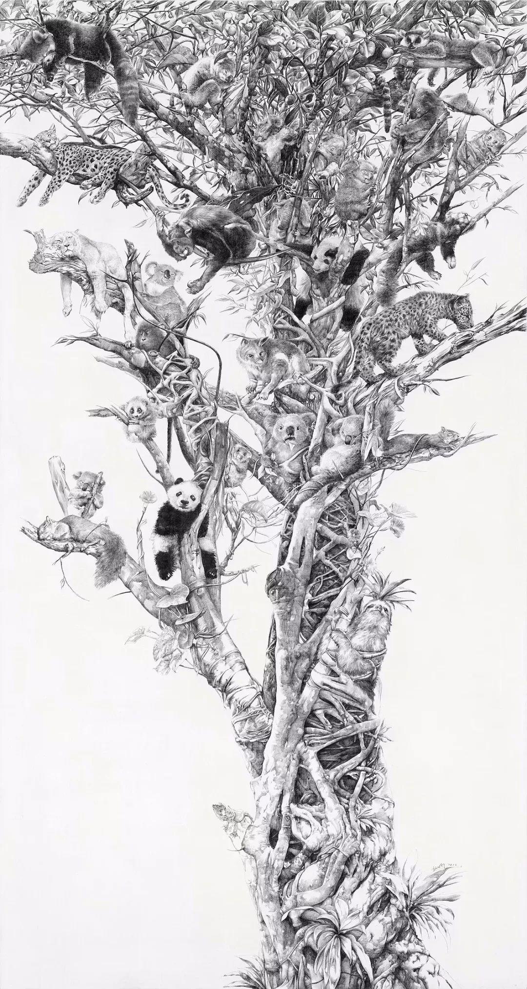 铅笔素描画植物