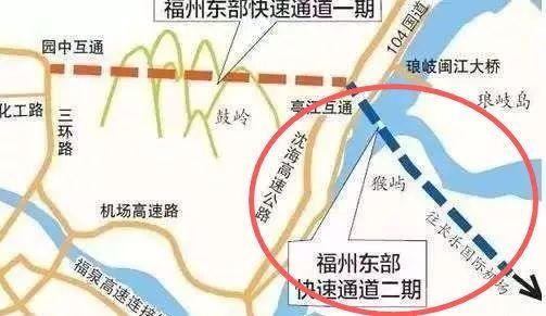 同时沿高速公路主线两侧设置辅路,经文岭镇,湖南镇,接入长乐机场北图片