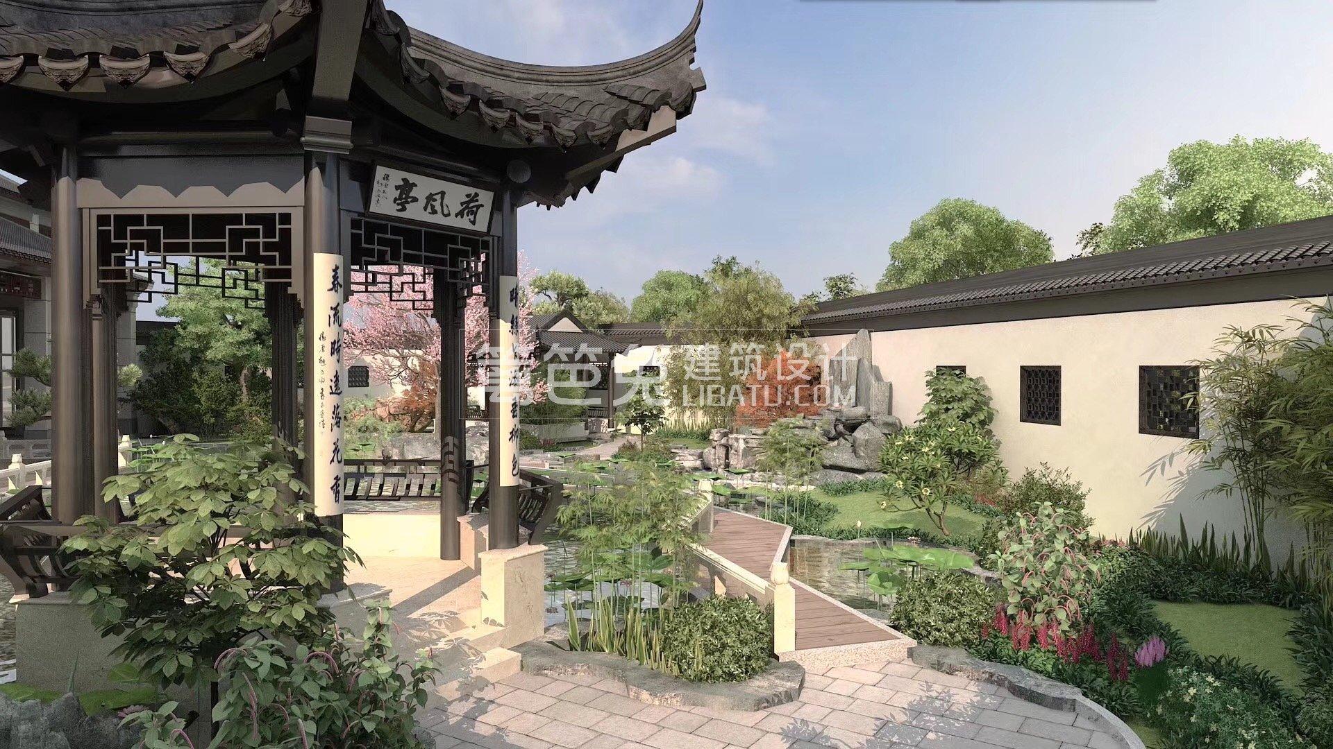苏式园林风格四合院别墅,是我理想中的房子图片