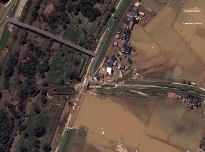 DigitalGlobe发布日本洪灾地区高分辨率卫星图像,以助力灾害救援工作