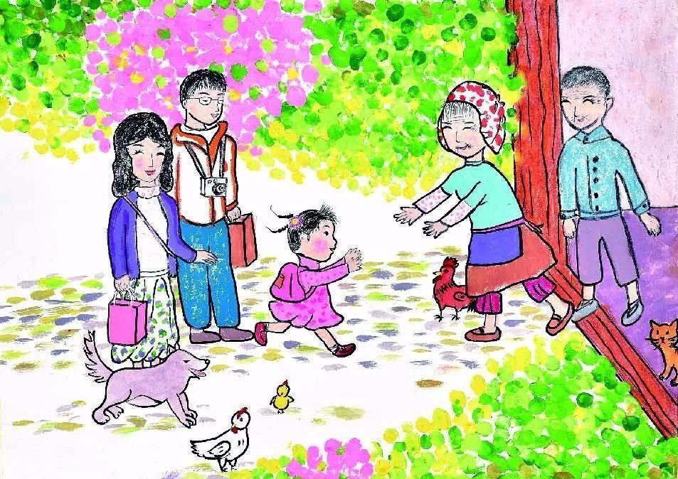 """宿迁市""""童画新时代 手绘价值观""""优秀儿童画作品展示"""