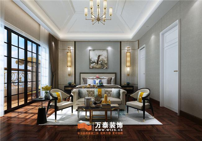 绿城玺园装修设计别墅新中式轻奢风格装修案例|济南