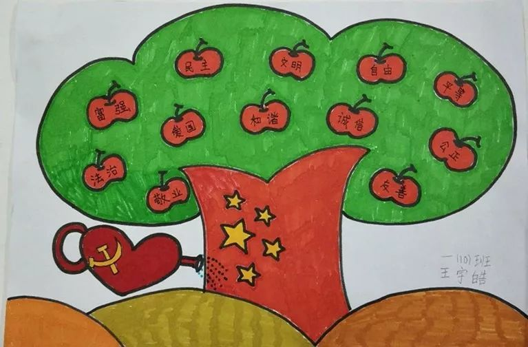 宿迁市 童画新时代 手绘价值观 优秀儿童画作品展示 第五期