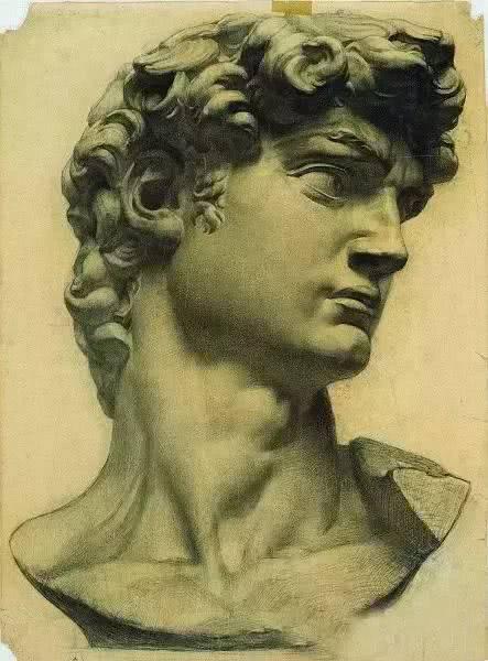 中央美术学院作品-史上最经典的素描石膏像