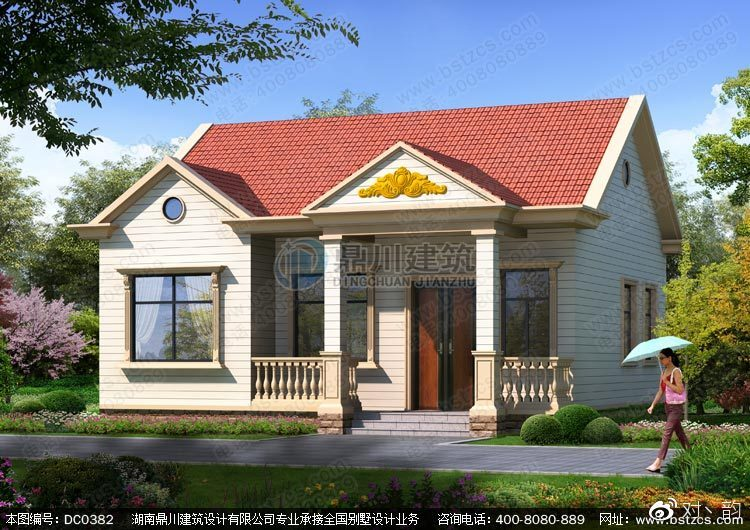 农村经济型一层自建房设计图纸及外观效果图