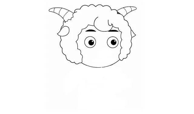 亲子简笔画 喜羊羊的画法 别看我只是一只羊