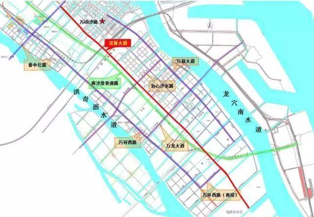 容桂南沙大桥规划图