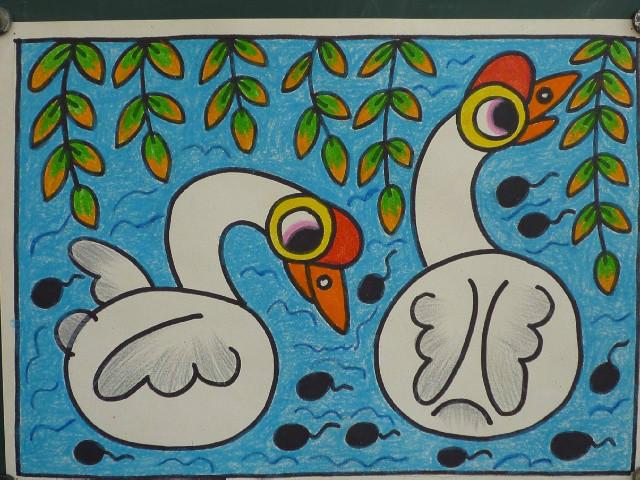 超美儿童手工画,给幼儿园里的孩子!图片