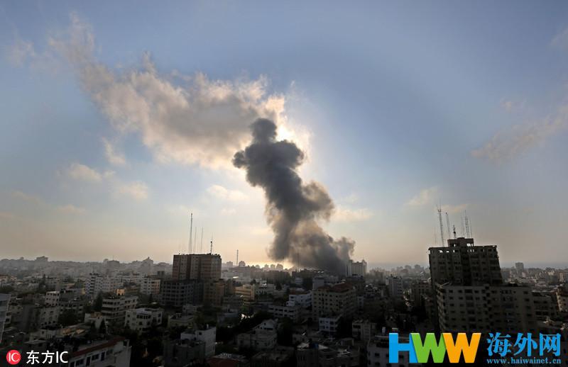 以色列空袭加沙地带_以军对加沙发动猛烈空袭 哈马斯称已达成停火协议