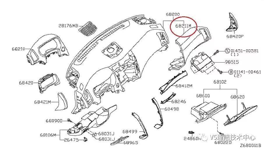 汽车零件爆炸图 手绘