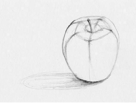 素描教程:一个苹果一把香蕉与啄木鸟素描基础技法教程图片