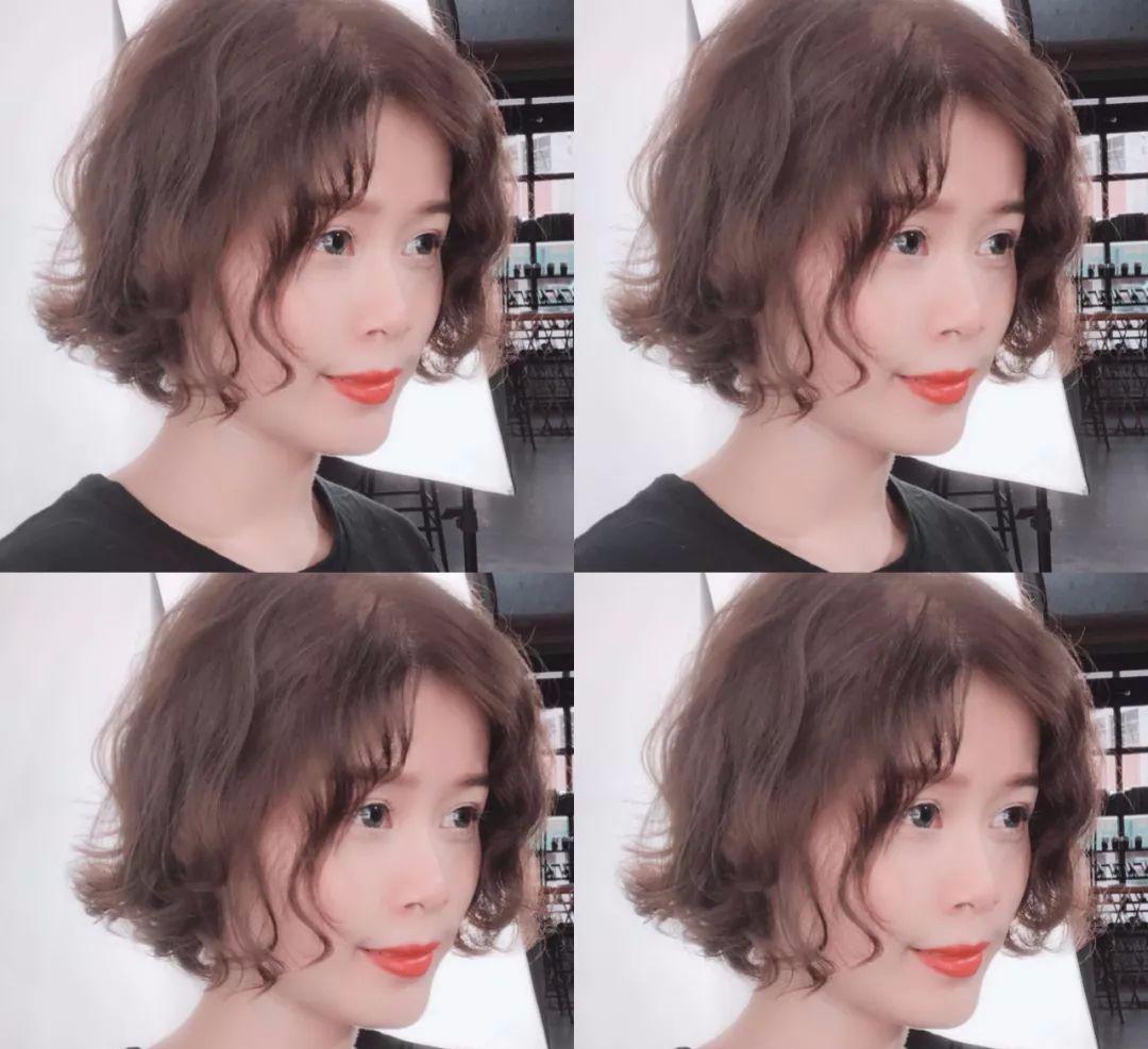 """2018年流行短发""""全头烫"""""""