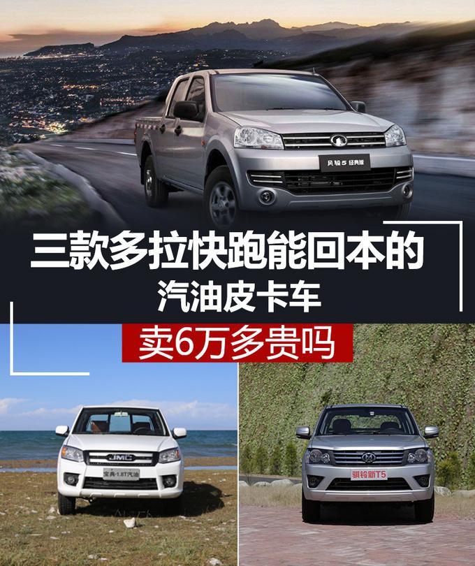 三款多拉快跑能回本的汽油皮卡车 卖6万多贵吗