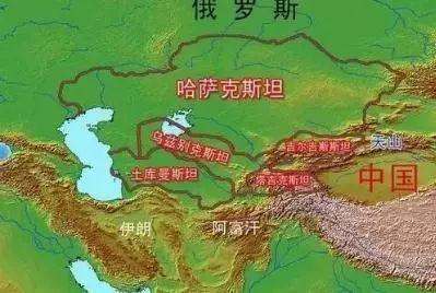 """中亚国家首都为什么离国境如此近?和""""一带一路""""又有什么关系?图片"""