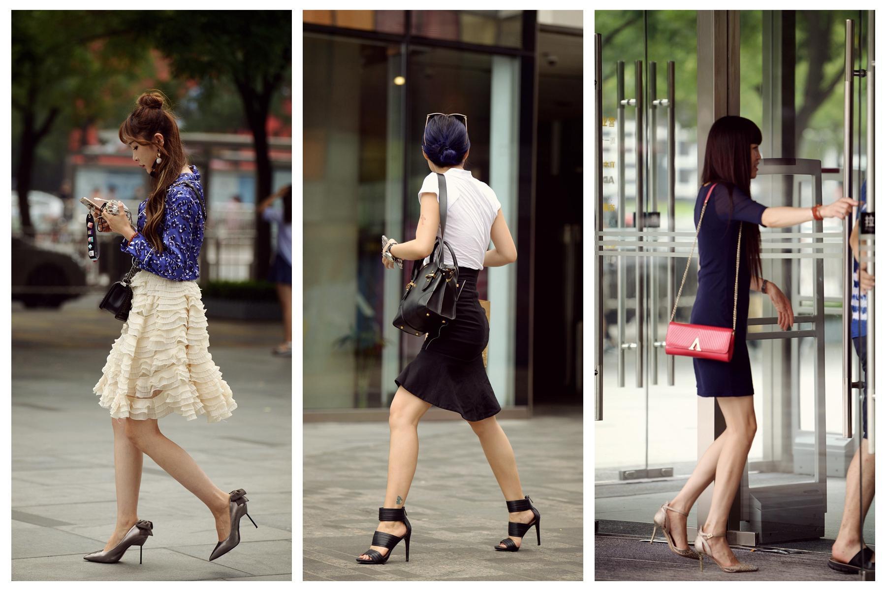 [原创]穿高跟鞋的女人最美,最喜欢图六姐姐的荷叶边包臀裙搭配(图)