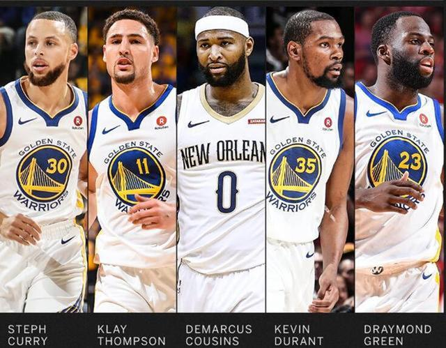 """原创]勇士五巨头堪称NBA史上最强阵容,""""梦之队""""来了也不一定能赢(图)"""