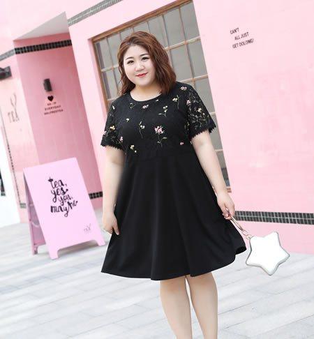 [原创]140斤胖女生不怕,这五套连衣裙配鞋子夏季无忧(最小2XL)(图)