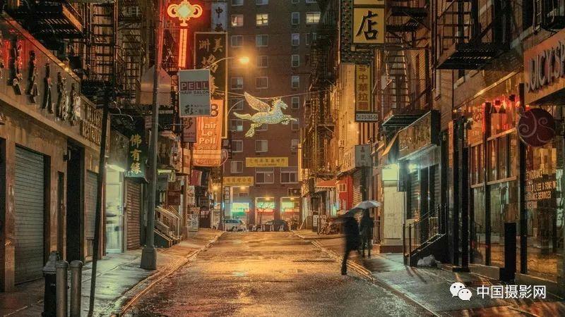 纽约唐人街酒店&纽约唐人街的下雨天|ludwig favre作品