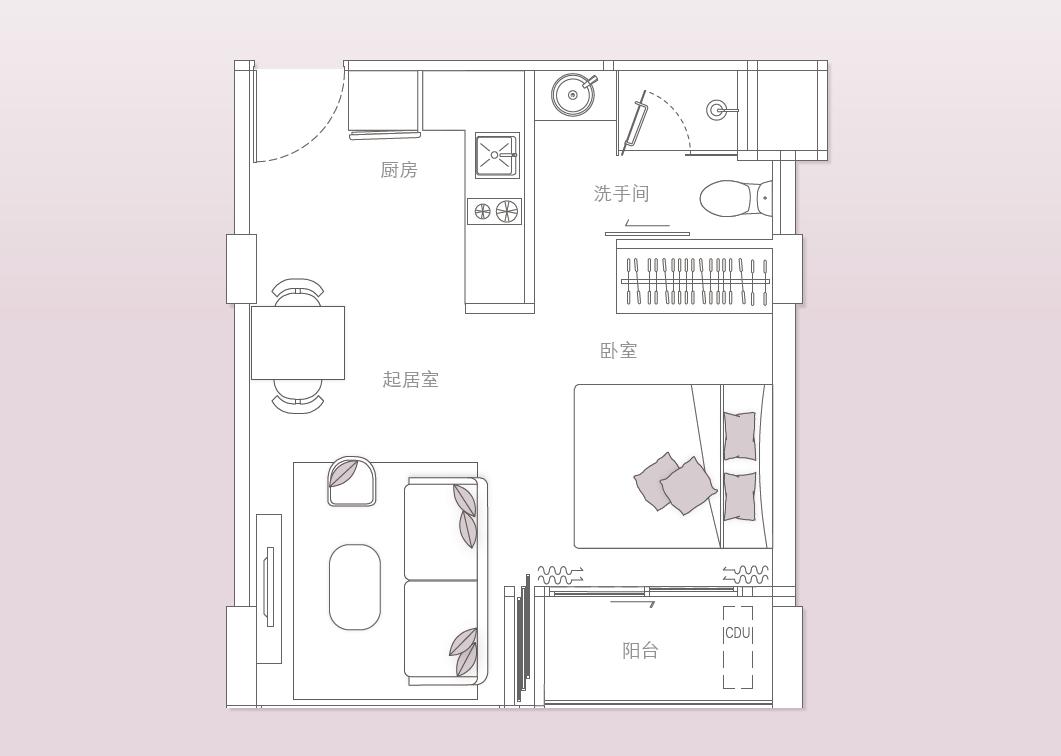 悦秀苑总建筑平面图
