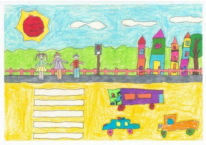 """""""童画新时代 手绘价值观""""少年儿童绘画比赛获奖作品图片"""