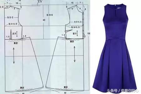 连衣裙裁剪图_简单的连衣裙裁剪图 你能不能看懂