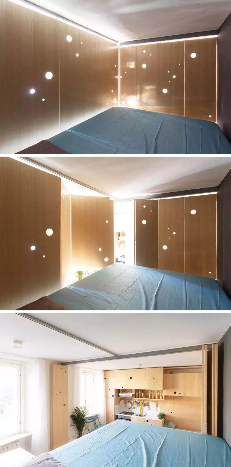 大神用隔断、柜子+打孔,把30㎡小单间装出90㎡的 feel!插图(9)