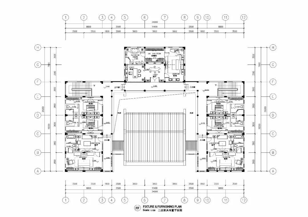 【免费分享】绝美方案丨中式别墅效果图 cad施工图