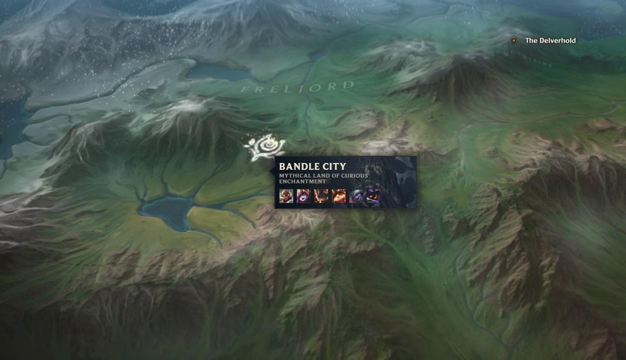拳头游戏首次揭晓《lol》符文大地世界地图图片