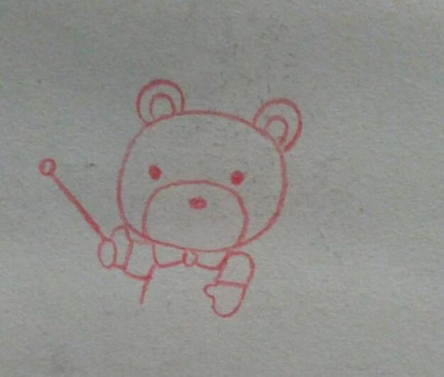 儿童启蒙简笔画,一步一步教你画儿童简笔画可爱漂亮的小熊美女