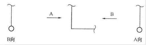 单线管道转向的画法