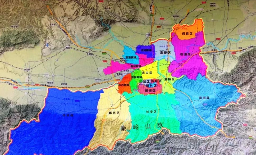 西安 城区人口_西安城区地图