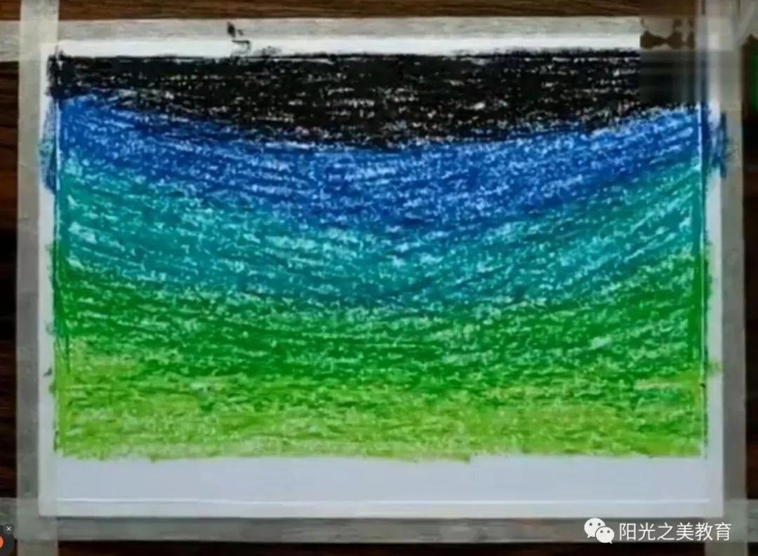 太好看了,蜡笔也能画出很细腻的星空