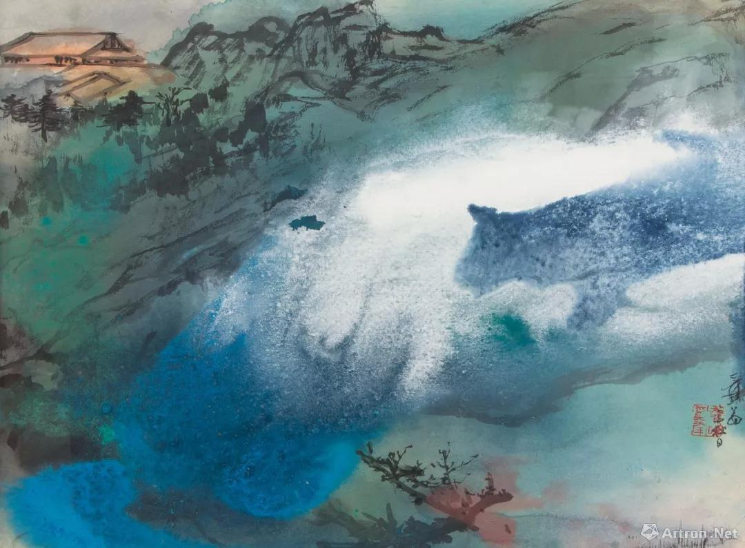 张大千泼墨泼彩视频_香港纪伯伦国际拍卖行:如果没有泼墨泼彩,张大千可能只是一介画匠