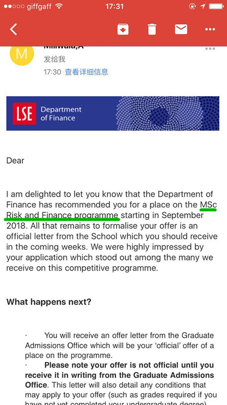 London School of Economics and Political Science,LSE,MS Risk and Finance,伦敦政治经济学院风险与金融硕士