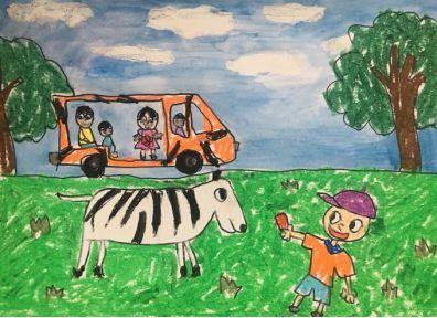 幼儿画 自然风景