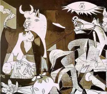 也就是在几何层次分明的基础上,做到画中有画,这就是毕加索首创的牛逼