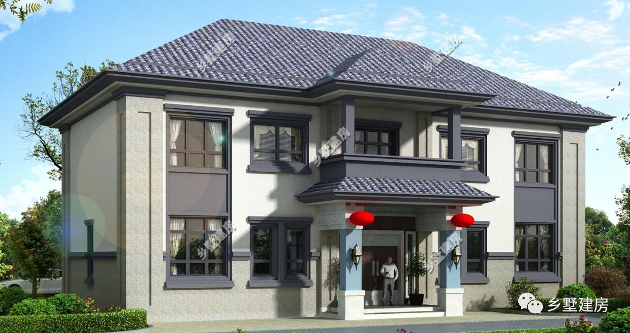 新式农村自建房设计图,对传统自建房说 不 ,农村自建房就该这么建 简单又大气