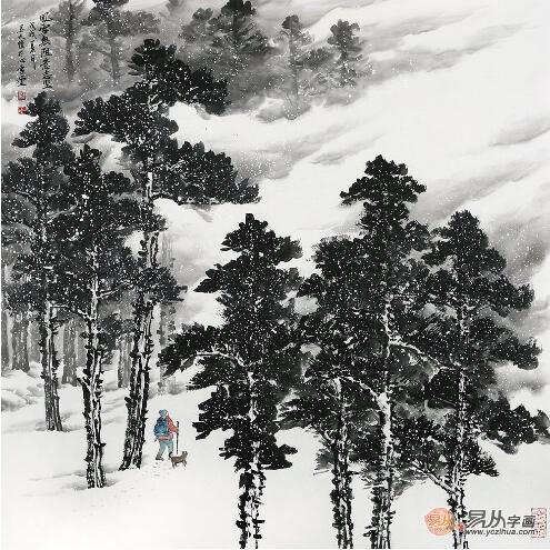 雪景山水画家吴大恺:把禅意融入到国画艺术中图片