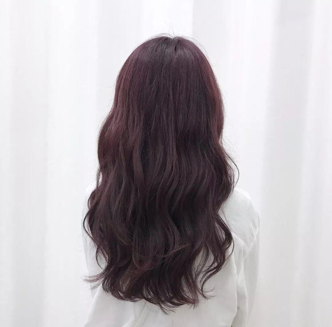 韩式中长发大卷烫发