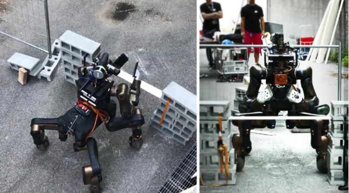 四条腿加两只手 这款搜救机器人采用了半人马设计外形