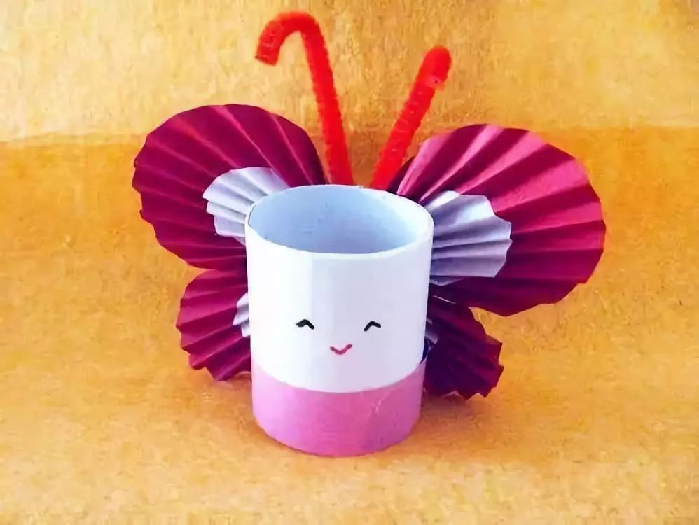 卫生纸筒手工制作蝴蝶手工小制作教程