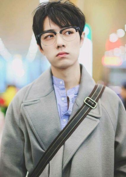 肖战造型百变,戴上眼镜秒变优雅翩翩少年,网友:嘟嘴太图片