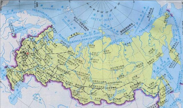 世界上最大国家俄罗斯,人口超亿地广人稀,地处高纬的图片