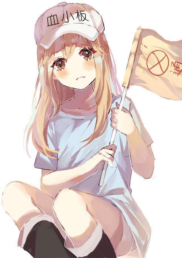 烧肌萝莉娘伊�9��H9�-zjm_动漫壁纸:《工作细胞》可爱萝莉血小板