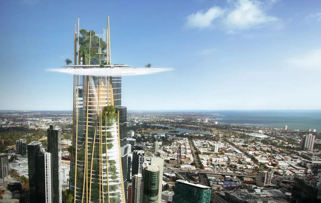 mad设计的这座未来的墨尔本地标建筑,高度360米,仿佛是在城市中从大地