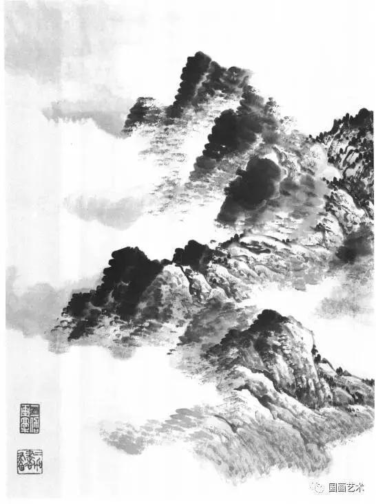 山水画基础技法教程,各种山石的画法及皴法详解,0基础图片