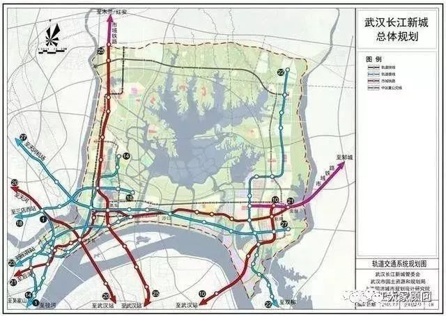 长江新城最新规划公布!10条地铁规划 30多年后变这样!
