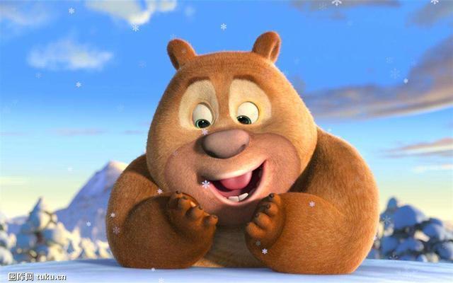熊大熊二和光头强小时候可爱又和谐,唉,为什么要长大呢