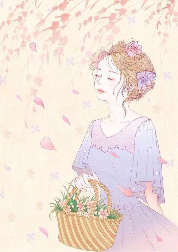 手绘唯美女生插画|致那些单纯的小美好