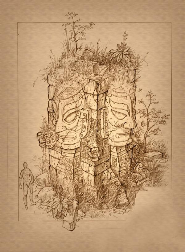 古代没有cad他们怎么画建筑图纸?超强手绘来袭